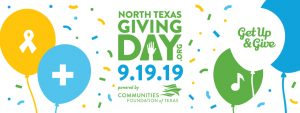 North Texas Giving Day powered by Communities Foundation of Texas - Get up & Give on 9.19.19