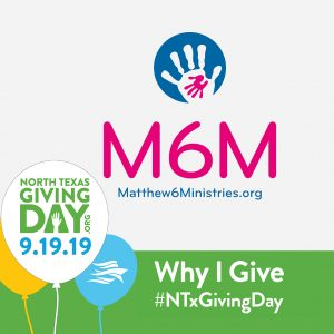 Why I Give to M6M on North Texas Giving Day